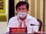 Chủ tịch UBND TP HCM Nguyễn Thành Phong chỉ đạo việc lập 62 chốt kiểm soát bệnh tật tại cuộc họp phòng, chống COVID-19 chiều 3/4 (Ảnh: TTBC)