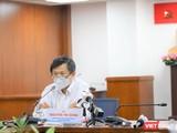BS Nguyễn Trí Dũng, Giám đốc Trung tâm Kiểm soát bệnh tật TP.HCM cho biết sẽ ưu tiên xét nghiệm nhanh cho người sắp kết thúc cách ly tập trung (Ảnh: TTBC)