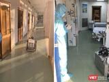 Hôm nay, BV Dã chiến Củ Chi vừa chính thức đưa robot khử khuẩn phòng cách ly đi vào hoạt động (Ảnh: Hòa Bình ghép)