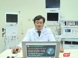 Giảng dạy online ở ĐH Y Dược TP.HCM sáng nay 18/4 (Ảnh HB chụp lại video giảng dạy online)