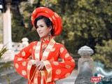 Diễn viên điện ảnh Thùy Trang khoe vẻ bí ẩn, quyền lực với mẫu áo đặc biệt (Ảnh: DL Duy)