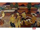 Một bức tranh ở lot 99 được gắn tên họa sĩ Nguyễn Tiến Chung (Ảnh: Drouot)