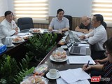 PGS.TS Lương Ngọc Khuê, Cục trưởng Cục quản lý Khám, chữa bệnh tại buổi họp với BV Truyền máu Huyết học TP.HCM ngày 3/7 (Ảnh: Lê Hảo)