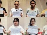 Nhóm người nhập cảnh trái phép bị phát hiện gần sân bay Tân Sơn Nhất đã được đưa đi cách ly (Ảnh: CATPHCM)