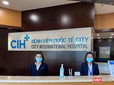 Vừa trở lại tiếp nhận bệnh sau thời gian cách ly, BV Quốc tế City thực hiện phân loại sàng lọc COVID-19 chặt chẽ (Ảnh: CIH)
