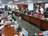Họp báo thông tin về việc Đại biểu Quốc hội Phạm Phú Quốc có 2 quốc tịch chuẩn bị diễn ra tại Trung tâm Báo chí TP.HCM (Ảnh: Hòa Bình)