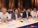 Ông Nguyễn Minh Hồng (người đầu tiên từ trái sang - Chủ tịch Hội Truyền thông số Việt Nam dự hội nghị Chính phủ điện tử (Ảnh: Trường Giang)