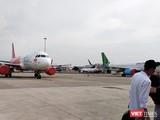 Cảng vụ Hàng không Miền Nam vừa gửi văn bản kiến nghị Cục Hàng không Việt Nam tạm dừng các chuyến bay thương mại (Ảnh: Hòa Bình)