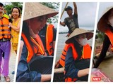 Rất nhiều sao Việt đang mang hàng cứu trợ về tới tay bà con vùng lũ (Ảnh: Hoà Bình ghép)
