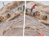 Một tai nạn chìm tàu tại cảng Cửa Việt (Ảnh: Hoà Bình ghép)