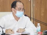PGS.TS.BS Tăng Chí Thượng, Phó Giám đốc Sở Y tế chỉ đạo tại buổi họp giao ban trực tuyến khẩn cấp với 129 bệnh viện (Ảnh: Hải Linh)