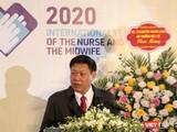 Thứ trưởng Bộ Y tế Đỗ Xuân Tuyên phát biểu tại Hội thảo khoa học về điều dưỡng (Ảnh: Thanh Hằng)