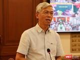 Ông Võ Văn Hoan – Phó Chủ tịch UBND TP.HCM tại cuộc họp Ban chỉ đạo phòng, chống COVID-19 (Ảnh: Khang Minh)