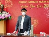 Bộ trưởng Bộ Y tế Nguyễn Thanh Long đánh giá có thể số ca nhiễm ở TP.HCM chưa dừng lại - Ảnh: Trần Minh