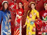 Các hoa hậu, á hậu rạng rỡ gửi lời chúc Tết Tân Sửu 2021 đến mọi người (Ảnh: Milor Trần)
