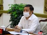Ông Dương Anh Đức, Phó Chủ tịch UBND TP.HCM tại cuộc họp sáng ngày 8/3 (Ảnh: Huyền Mai)