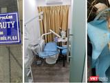"""Bên dưới chung cư là biển hiệu """"Công ty TNHH Mỹ phẩm Chang Beauty"""", tại tầng 2 chung cư là cơ sở dịch vụ thẩm mỹ nhưng có chứng cứ của phẫu thuật thẩm mỹ trái phép (Ảnh: SYT)"""