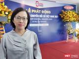 BS Trần Thanh Thuỷ - Phó Giám đốc Sở Y tế đến tham dự họp báo phát động Giải thưởng chuyển đổi số Việt Nam 2021 tại Đà Nẵng (Ảnh: Hoà Bình)