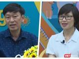 """BS Nguyễn Thanh Trường và BS Lê Hồng Nga tại cuộc toạ đàm trực tuyến """"Hiểu đúng về vaccine"""" COVID-19 - Ảnh: Hoà Bình"""