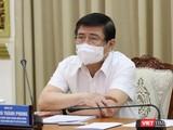 Ông Nguyễn Thành Phong - Chủ tịch UBND TPHCM chỉ đạo tại cuộc họp sáng nay 21/5 - Ảnh Huyền Mai