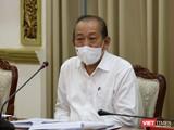 Phó Thủ tướng thường trực Trương Hoà Bình chỉ đạo tại cuộc họp sáng nay ngày 1/6 - Ảnh: Huyền Mai