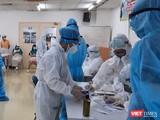 Tổ chức lấy mẫu xét nghiệm mở rộng giám sát tại công ty nằm trong Khu chế xuất Tân Thuận (Nguồn: Trung tâm Y tế quận 7)