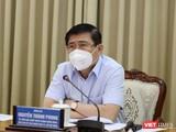 Ông Nguyễn Thành Phong - Chủ tịch UBND TP.HCM tại cuộc họp Ban Chỉ đạo phòng, chống dịch COVID-19 sáng 14/6 - Ảnh: TTBC