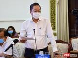 Ông Nguyễn Tấn Bỉnh - Gíam đốc Sở Y tế TP.HCM cho hay, TP.HCM có 710.773 người được tiêm vaccine phòng COVID-19 trong đợt 4. Ảnh: TTBC
