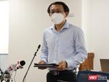 Giám đốc Sở Thông tin - Truyền thông Lâm Đình Thắng phát biểu tại họp báo. Ảnh: Huyền Mai