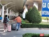 Ga quốc tế tại Cảng Hàng không Tân Sơn Nhất. Ảnh Hoà Bình