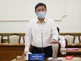 Ông Dương Anh Đức - Phó chủ tịch UBND TP.HCM thông tin về việc thành phố áp dụng nhiều biện pháp tăng cường từ 0 giờ ngày 23-8