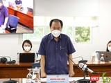 Phó Giám đốc Sở Y tế TP.HCM - BS. Nguyễn Hoài Nam thông tin về chủ trương mời gọi đội ngũ F0 đã khỏi bệnh tham gia phòng, chống dịch. Ảnh: Linh Nhi