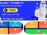 App Y tế HCM do TP.HCM triển khai. Ảnh Hoà Bình