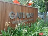 Cổng Trường Tiểu học Quốc tế Gateway (Cầu Giấy, Hà Nội) nơi xảy ra vụ việc.