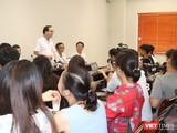 Buổi họp báo cung cấp thông tin sức khỏe cháu bé tại Bệnh viện Nhi Trung ương sáng 16/9.