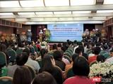 """Buổi lễ trang trọng diễn ra tại Bệnh viện Bạch Mai, đồng thời, cũng là nơi diễn ra hội nghị chủ đề """"Sản phụ khoa - Hỗ trợ sinh sản"""" ngay sau đó."""