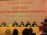 Buổi họp báo thông tin về khai trương Cổng dịch vụ công Quốc gia ngày 7/12.