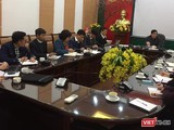 Ông Lương Ngọc Khuê - Cục trưởng Cục Quản lý Khám, chữa bệnh (Bộ Y tế) chủ trì cuộc họp bàn cách tuyên truyền ứng phó virus Corona mới.