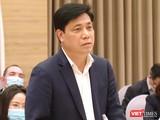 Thứ trưởng Bộ Giao thông vận tải Nguyễn Ngọc Đông thông tin tại cuộc họp báo chiều 2/2.