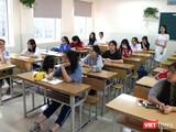Học sinh nghe giảng. Ảnh: Minh Thúy