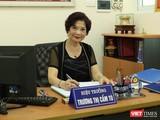Bà Trương Thị Cẩm Tú – Hiệu trưởng Trường tiểu học công nghệ giáo dục Hà Nội. Ảnh: Minh Thúy