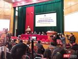 Bộ Y tế tổ chức họp cung cấp thông tin về dịch bệnh viêm đường hô hấp cấp do chủng virus Corona mới. Ảnh: Minh Thúy