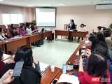 Hội thảo giới thiệu các công nghệ và sản phẩm khoa học công nghệ để chung tay phòng, chống dịch Covid-19. Ảnh: Minh Thúy