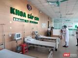 Khoa Cấp cứu Bệnh viện Bệnh Nhiệt đới Trung ương. Ảnh: Minh Thúy
