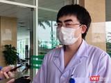 ThS. BS. Vũ Minh Điền - BS điều trị khoa Viêm Gan, Phó Trưởng phòng kế hoạch tổng hợp, Bệnh viện Bệnh Nhiệt đới Trung ương cơ sở 2. Ảnh: Minh Thúy