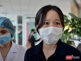 Nữ bác sĩ mắc COVID-19 khi điều trị cho bệnh nhân. Ảnh: Hoàng Anh