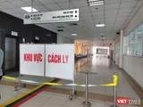 Khu vực cách ly tại Bệnh viện Bệnh Nhiệt đới Trung ương (Ảnh - Minh Thuý)