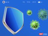 Ứng dụng khẩu trang điện tử - Bluezone (Ảnh chụp màn hình)