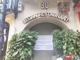 Nhà hàng Vegan Restaurant phân phối pate Minh Chay ở 30 Mã Mây đóng kín cửa (Ảnh: Minh Thúy)