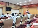 Toàn cảnh cuộc họp báo cáo về tình hình dịch sốt xuất huyết và dịch bạch hầu trên cả nước (Ảnh: Minh Thúy)